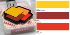 Holiday brooch by @festivodesign designed using colourful laminates from the Formica® Collection Colors range