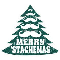 Merry Christmas Mustache Tree