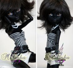 OOAK Monster High Custom Repaint dressed Catty Noir by RogueLively