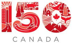 I love Greg Mühlböck's submission for logos for Canada 150 [Celebration of 150 years since Canadian Confederation which will be celebrated in Canada 150 Logo, Canada Day 150, Canada Day Party, Happy Canada Day, Canada Eh, Logos, Logo Branding, Logo Aniversario, 50th Anniversary Logo