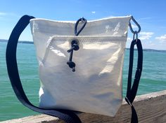 Recycled/upcycled sail bag /sailcloth bag /sailing bag handcrafted by Rough Element. One of a kind!