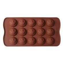 1 PCS Sorriso Rosto Forma Fandont Silicone Molde de Chocolate Cubo de Gelo Molde Bakeware Bolo fondant ferramentas de decoração do bolo(China (Mainland))