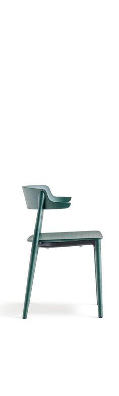 Nemea solid wood cafe chair in dark green