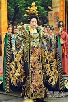 Ancient Chinese Wu Zetian Emperor Costumes Complete Set rental set traditional buy purchase on sale shop supplies supply sets equipemnt equipments Traditional Fashion, Traditional Dresses, Oriental Fashion, Asian Fashion, Wu Zetian, The Empress Of China, Chinese Movies, Chinese Clothing, Chinese Actress
