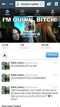 Got a tweet from @KatieQLowes #Scandal