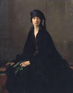 "fleurdulys: "" A Lady in Black - George Spencer Watson 1922 """
