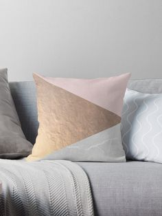 Geometric triangle design of rose gold and concrete in pink and grey tones. Chic, trendy, modern and minimalist. • Also buy this artwork on home decor, apparel, stickers, and more.