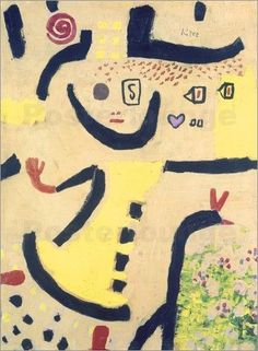 Childrens Game (1939) Paul Klee's works reflect his dry humor and his sometimes childlike perspective, his personal moods and beliefs, and his musicality.