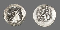 Greek, Thrace  Coin Showing Alexander the Great, 306/281 B.C. Issued by King Lysimachus of Thrace, 306–281 B.C.  Silver tetradrachm