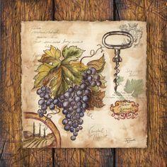Vintner's Journal Grapes I ~ Tre Sorelle Studios