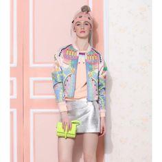 #Pink #DecoPrint #VarsityJacket £25.99 @ ShanghaiTrends.co.uk  /  http://shanghaitrends.co.uk/pink-deco-print-varsity-jacket