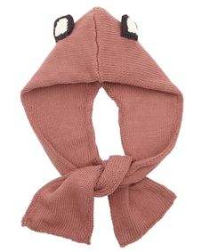Age 5 to 11 Cuddly Monkey Knitted Hooded Scarf,