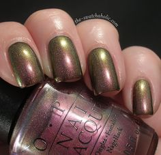 OPI Movin' Out over BB Couture Glampyre.  #nailpolish