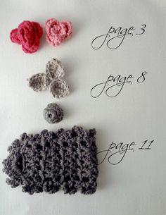 CROCHET PATTERN  Sweet Roses Bracelet PDF Pattern  photo