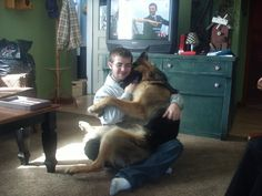 The love of a boy and his dog