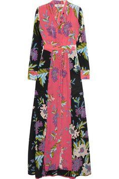 Diane von Furstenberg - Floral-print Silk Crepe De Chine Maxi Dress - Pink - US12