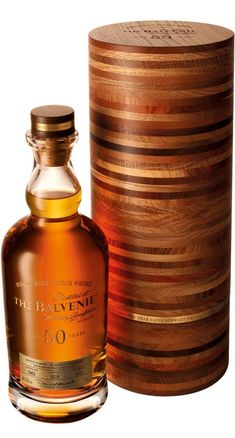 The Balvenie Fifty Single Malt Scotch Whisky ~ 50 year old Speyside with only 88 bottles produced globally! Cigars And Whiskey, Scotch Whiskey, Whiskey Bottle, Whiskey Brands, Alcohol Bottles, Liquor Bottles, Expensive Whiskey, Most Expensive, Single Malt Whisky