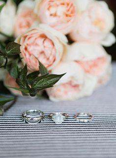Incredible emerald cut diamond and baguette wedding band! Wedding Bands, Wedding Flowers, Elegant Wedding Rings, Dream Wedding, Wedding Day, Pretty Roses, Wedding Events, Weddings, Band Photos