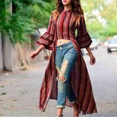 Fashion 2019 New Moda Style - fashion Indian Gowns Dresses, Indian Fashion Dresses, Indian Designer Outfits, Girls Fashion Clothes, Designer Dresses, Fashion Outfits, Fasion, Casual Indian Fashion, Formal Fashion