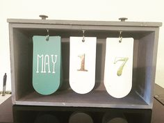 Simple DIY desk calendar