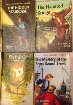 Bell's Books - AbeBooks Nancy Drew by Carolyn Keene The Hidden Staircase The Haunted Bridge The Secret Of Mirror Bay The Mystery of the Brass Bound Trunk Nancy Drew Mystery Stories, Nancy Drew Mysteries, Nancy Drew Books, Pen Name, The Dark Tower, Book Spine, Mirror Bay, Mystery Series, The Secret