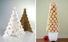 Muffin Weihnachten-Baum gestalten-Ideen Papier-Karton