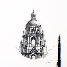 Classical architecture architecture drawing sketches buildings, architecture drawing presentation sketches, baroque architecture drawing, section architectu Baroque Architecture, Interior Architecture Drawing, Architecture Drawing Sketchbooks, Ancient Architecture, Architecture Design, Landscape Architecture, Concept Architecture, Buddhist Architecture, Chinese Architecture