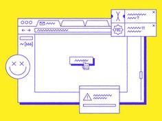 ¯\_(ツ)_/¯ flat illustration internet link browser oops Graphic Design Posters, Graphic Design Illustration, Typography Design, Flat Illustration, Web Design, Print Design, Motion Design, Desing Inspiration, Memphis Design