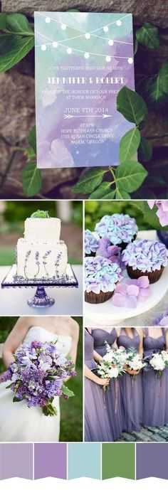 purple and mint spring weddding color ideas and wedding invitations by lorrie