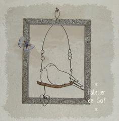 cadre oiseau fil de fer
