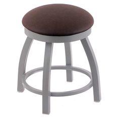 Holland Bar Stool Misha Swivel Dining Stool with Leather Seat