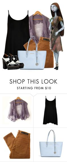 """""""Sally (The Nightmare Before Christmas)"""" by leagelia ❤ liked on Polyvore featuring WearAll, Nobody Denim, MICHAEL Michael Kors and Marc by Marc Jacobs"""
