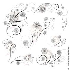 Check out this item in my Etsy shop https://www.etsy.com/au/listing/202864569/elegant-snowflake-flourishes-snow