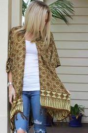 Tuscan Tan Kimono Bohemian Style, Boho, Crochet Cape, Barefoot Blonde, Indian Summer, Capes, Fashion Online, Kimono Top, Sweaters