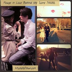 Behind the scenes of short #film Rouge in Love, filmed in #Paris #MichellePhan