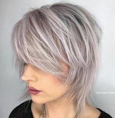 Shorter Wispy Silver Shag