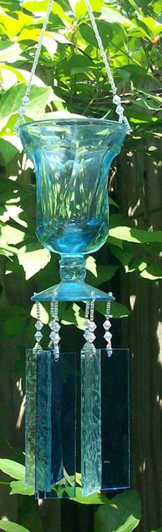 Vintage Sundae Glass Wind chime Depression Era