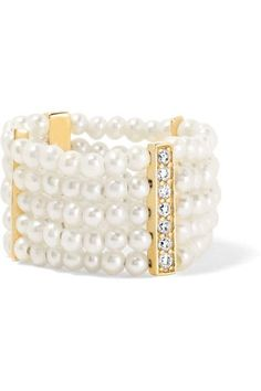 Anissa Kermiche - 14-karat Gold, Diamond And Pearl Ring - 6