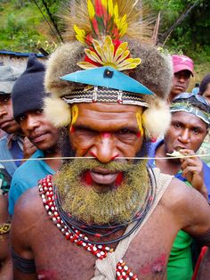 Papua New Guinea.this photo says a lot in regards to evolving cultures. western-highlands-papua-new-guinea Earth Film, West Papua, Body Adornment, We Are The World, Vanuatu, World Cultures, Papua New Guinea, People Around The World, Body Art
