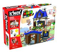 Go on a brand new adventure with Boomerang Mario as he enters a spooky Ghost House! Featuring K'NEX's all new jump disk and launcher that allow Mario to run and jump, like he does in the game. Build Boomerang Mario and open the doors to enter the Ghost House.