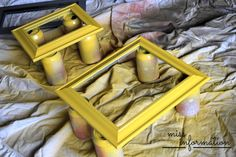 How to Paint Picture Frames - Miss Information