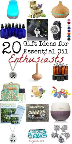 20 Gift Ideas for Essential Oil Enthusiasts - love this gift guide for EO users! I have a few friends that use essential oils. The diffuser necklace would be perfect!