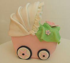 baby cart cake topper