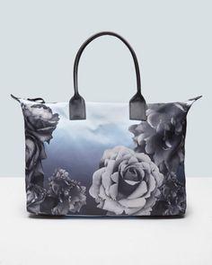 6785577d87c9bb Blue Bloom print tote bag - Pale Blue