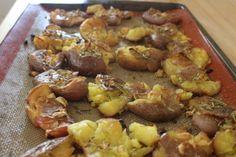 Easy Whole30 Side Dishes: Garlic Rosemary Smashed Potatoes