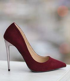 Pantofi stiletto bordo piele intoarsa eco ieftini Stiletto Heels, Casual, Shoes, Fashion, Moda, Zapatos, Shoes Outlet, Fashion Styles, Shoe
