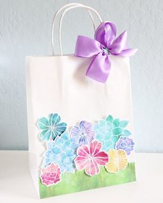 Spring birthdays? Check. Mother's Day? Got it. Teacher appreciation gifts? Yep! I've got a sweet idea that has all of your spring gift giving wrapped up super pretty! You can search this fun bag on the @consumercrafts blog! #gift #crafts