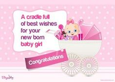 152 best baby wishes images on pinterest cards baby images and frases greeting card new born baby m4hsunfo
