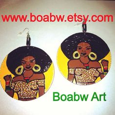 Afrocentric Power Queen Earrings by BOABW on Etsy, $27.00
