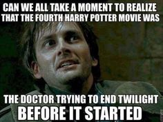 can we all take a moment to realize that the fourth harry potter movie was, the doctor trying to end twilight before it started, dr who, mem. Harry Potter Film, Harry Potter Theories, Harry Potter Jokes, Harry Potter Fandom, David Tennant Harry Potter, Fan Theories, Potter Facts, What Do You Mean, Look At You